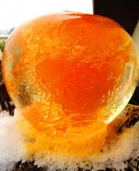 Eismurmel in orange